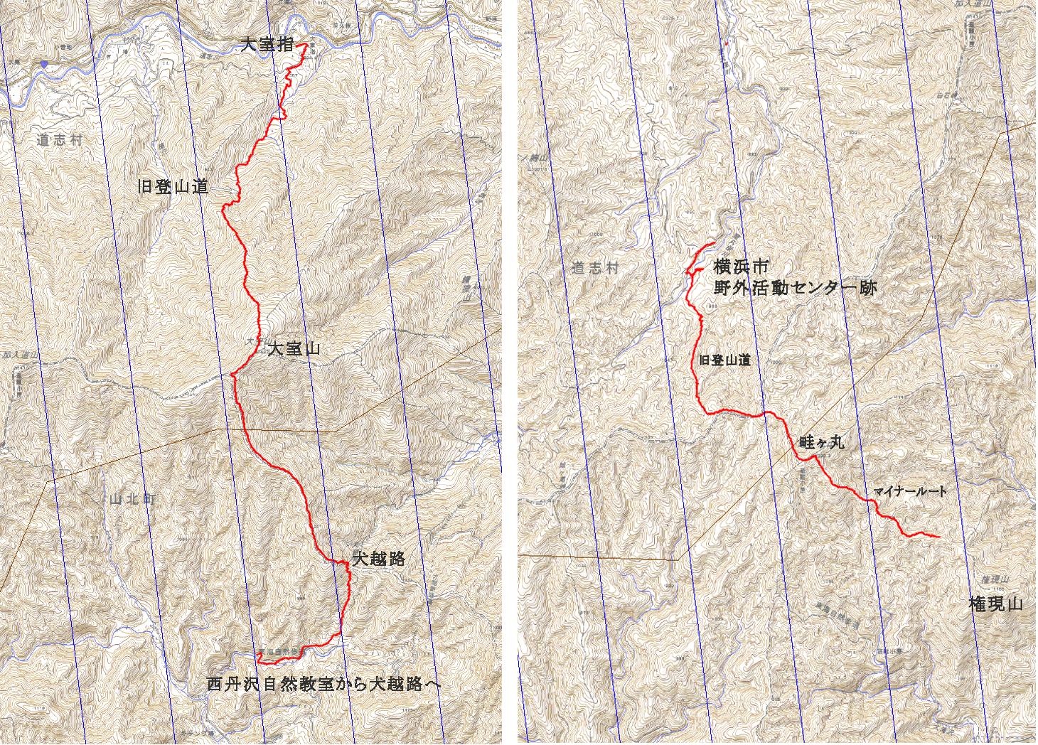 西丹沢往復ルート