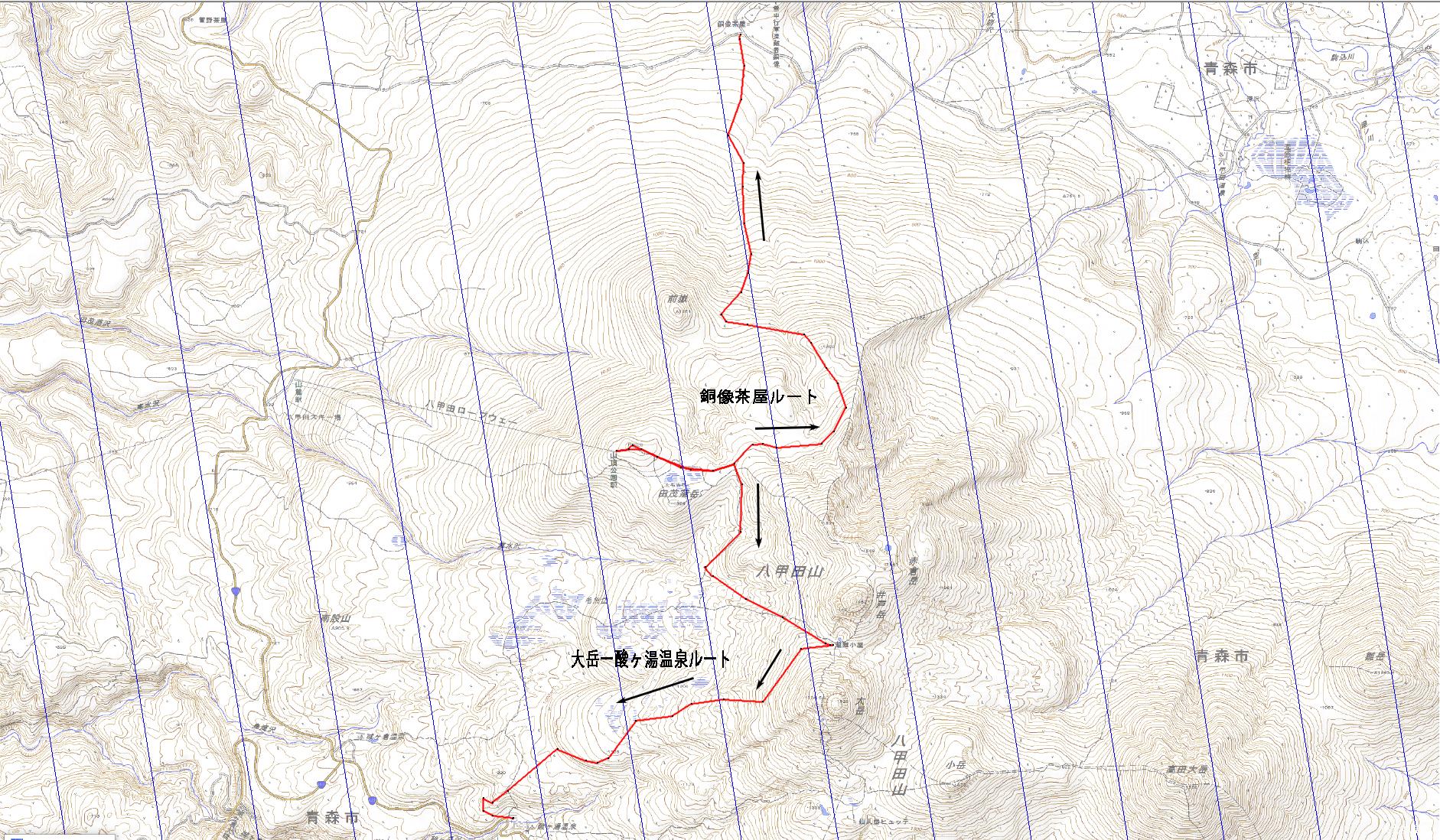 八甲田山スキーツアールート