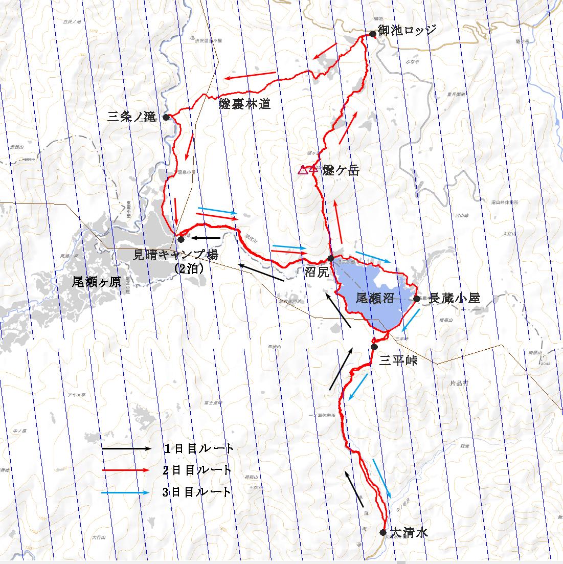 燧ケ岳登山ルート