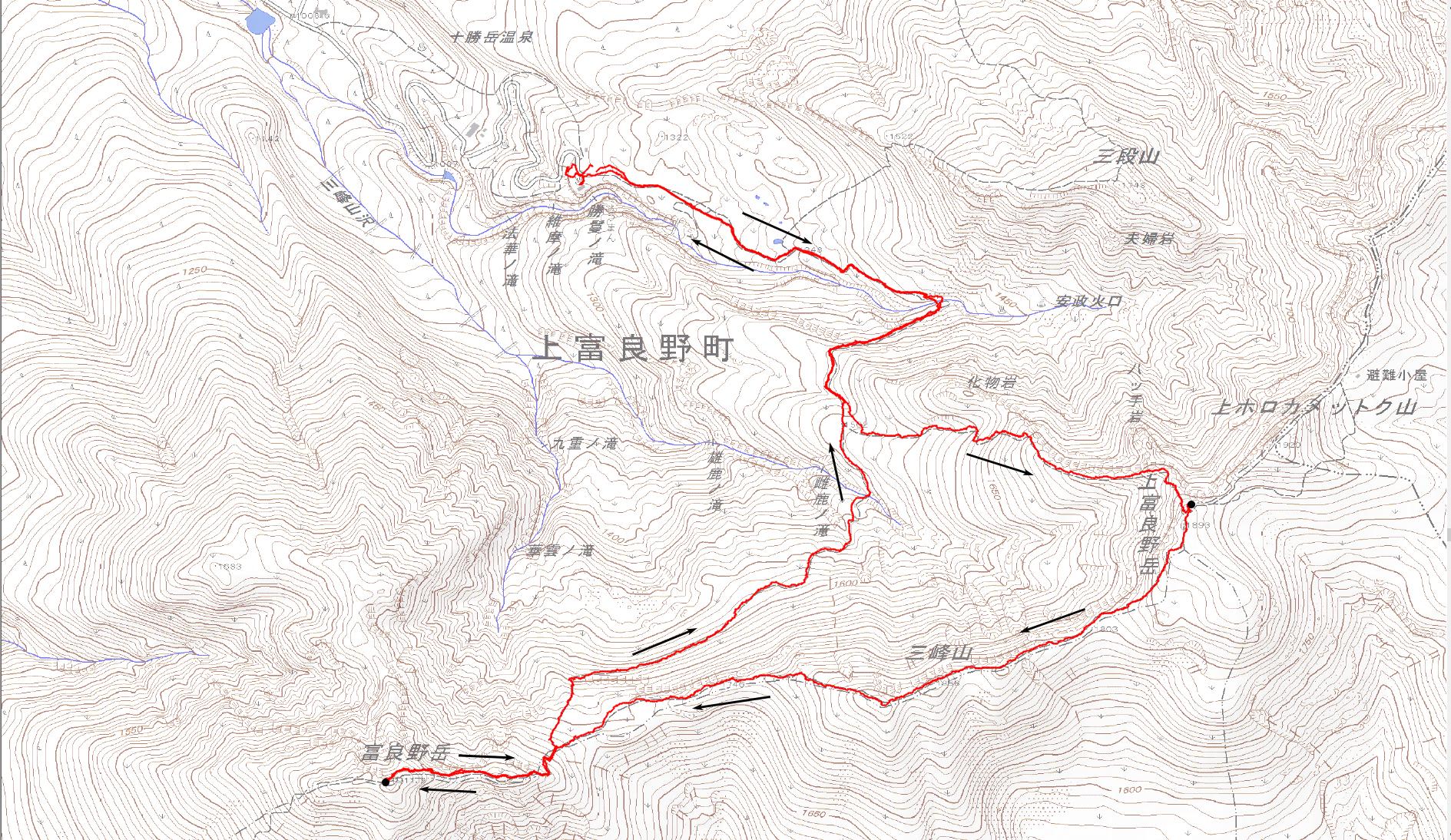 富良野岳ルート