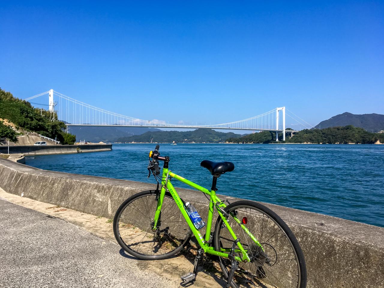自転車でしまなみ海道を走る。