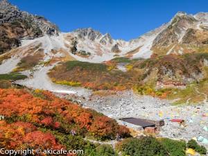 涸沢の紅葉と屏風岳からの絶景